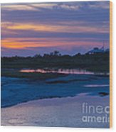 Sunset On Honeymoon Island Wood Print