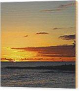Sunset On Kauai Wood Print