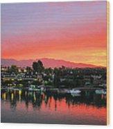 Sunset On Lake Havasu Wood Print