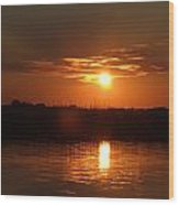 Sunset On Lake Wylie Wood Print