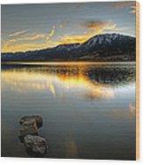 Sunset On Little Washoe Wood Print
