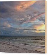 Sunset On Pass-a-grille Beach Florida Wood Print
