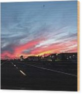 Sunset On Route 66 Wood Print