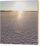 Sunset On Salt Lake Wood Print