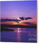 Sunset On Snake River Wood Print
