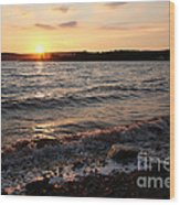 Sunset On The Bay Of Fundy Wood Print