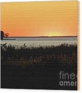 Sunset On The Chesapeake Wood Print