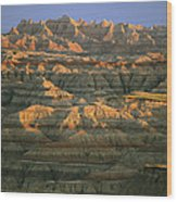 Sunset On The Geological Formations Wood Print