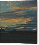 Sunset On The Old Canadian Highway Wood Print