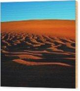 Sunset On The Ubari Sand Sea Wood Print
