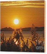 Sunset On White Lake Wood Print
