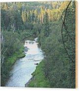 Sunset On Whitemud Creek 2 Wood Print
