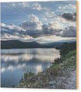 Sunset Over Barker Lake Wood Print