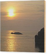 Sunset Over Biarritz  Wood Print