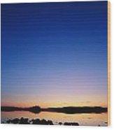 Sunset Over Bjorksjon Wood Print