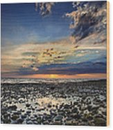 Sunset Over Bound Brook Island Wood Print
