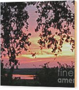 Sunset Over Canyon Lake Wood Print