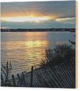 Sunset Over Cedar Creek Wood Print