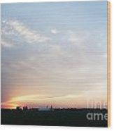 Sunset Over Chester Wood Print