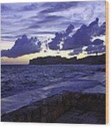 Sunset Over Dubrovnik Wood Print