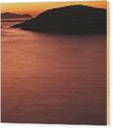 Sunset Over Dunmore Head Wood Print
