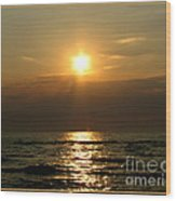 Sunset Over Lake Erie 3 Wood Print