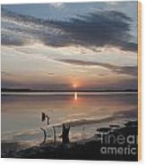Sunset Over Lovewell Lake Wood Print
