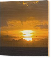 Sunset Over Miami Wood Print