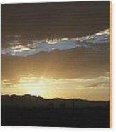 Sunset Over Mt Charleston Wood Print