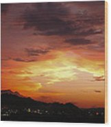 Sunset Over Pigeon Forge Wood Print