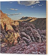 Sunset Over Red Rocks Wood Print