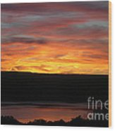 Sunset Over Seneca Lake Wood Print
