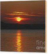 Sunset Over Silver Lake Sand Dunes Wood Print