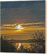 Sunset Over Steilacoom Bay Wood Print
