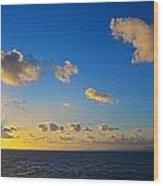 Sunset Over The Caribbean Sea Wood Print