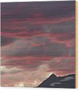Sunset Over The Colorado Rocky Mountain Continental Divide Wood Print