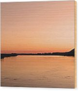 Sunset Over The Danube ... Wood Print