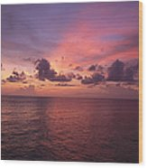 Sunset Over The Gulf Of Mexico Wood Print