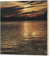 Sunset Over The Lake - 3rd Place Win Wood Print