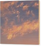 Sunset Over The Moscow River Wood Print