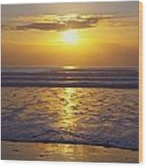 Sunset Over The Pacific Ocean Along The Wood Print by Craig Tuttle