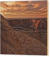 Sunset Over The Rim Of Canyon De Wood Print