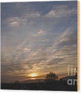 Sunset Over The San Fernando Valley Wood Print