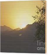 Sunset Over The Sinai Desert  Wood Print
