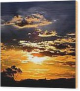 Sunset Over Topanga Wood Print by Catherine Natalia  Roche