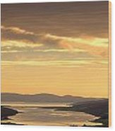 Sunset Over Water, Argyll And Bute Wood Print