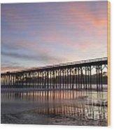 Sunset Pier San Simeon California 1 Wood Print