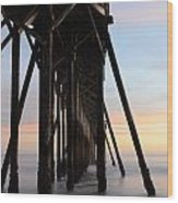 Sunset Pier California 3 Wood Print