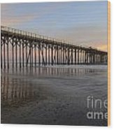 Sunset Pier  California 5 Wood Print