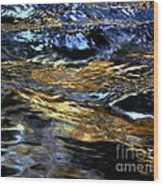 Sunset Reflected On Wave Wood Print